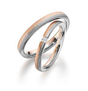 Rosegold Silber Ringe